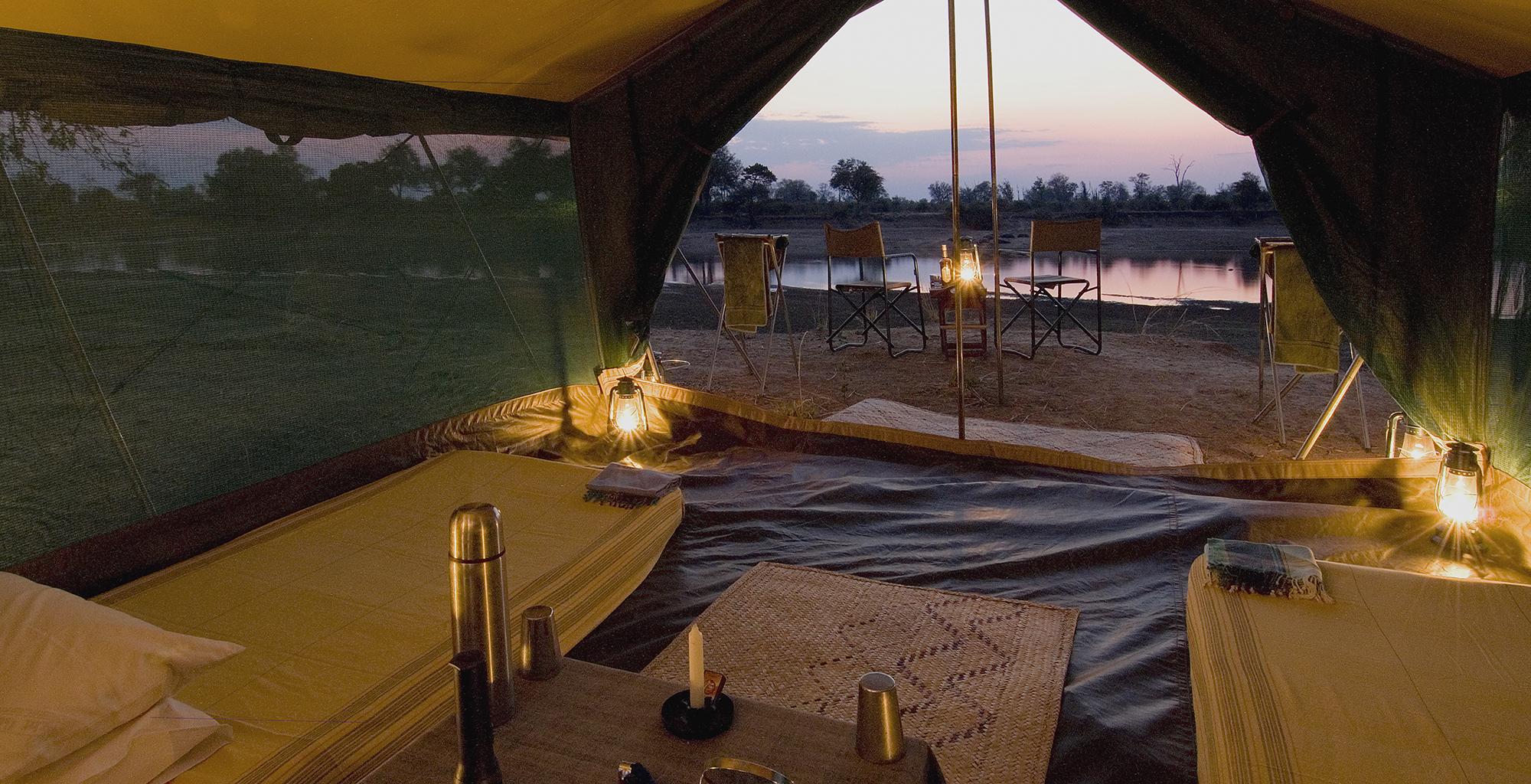 Zambia-Luangwa-Bush-Camp-Tent-Interior