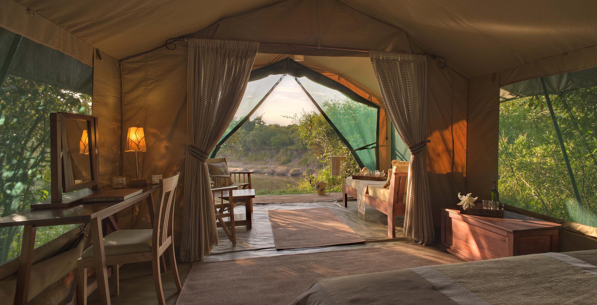 Kenya-Rekero-Tent-Camp-Bedroom-View