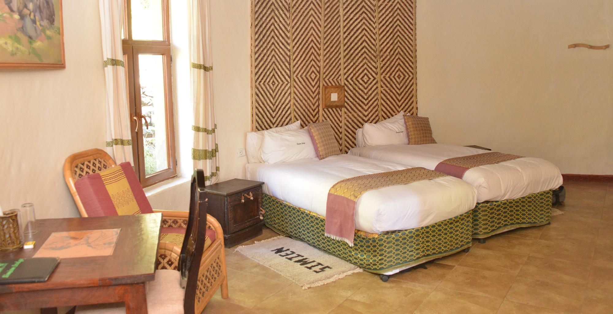 Simien Lodge Ehtiopia Bedroom