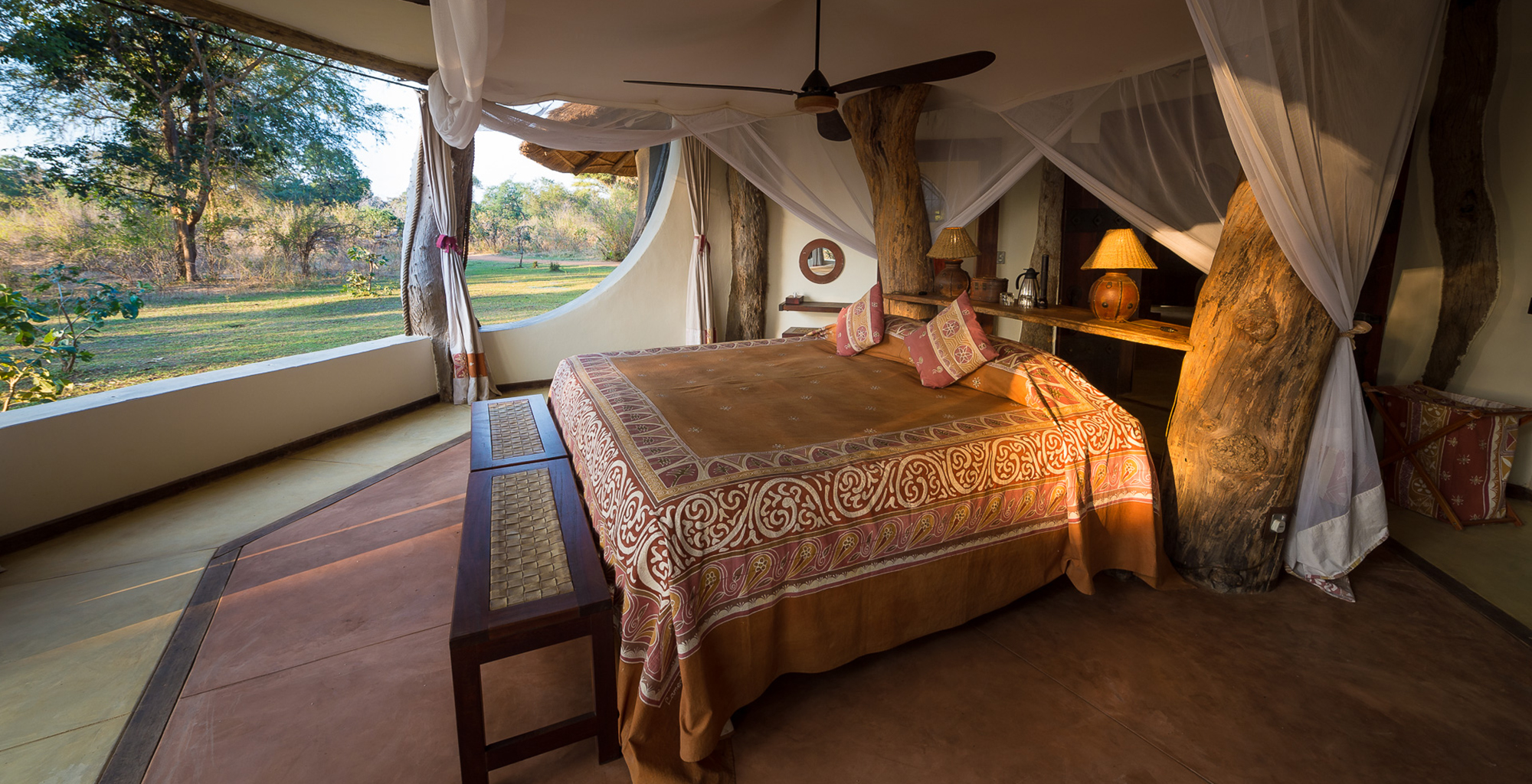 Zambia-Luangwa-Safari-House-Bedroom-View