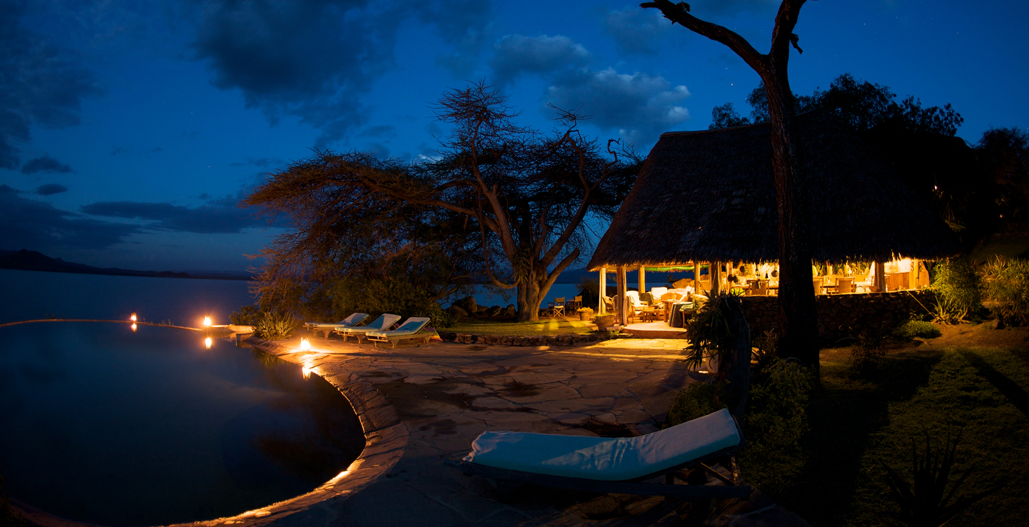 Kenya-Samatian-Island-Lodge-Pool-Night