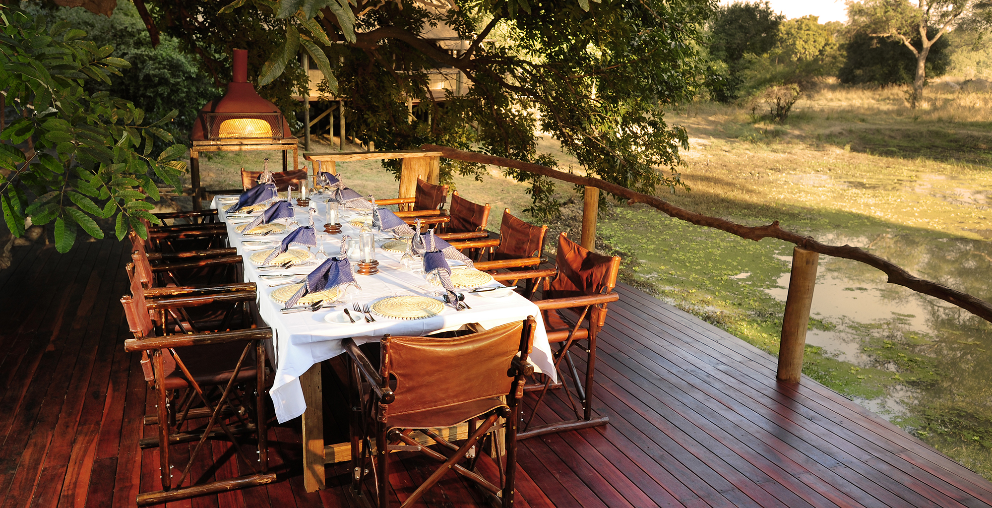 Zambia-Bilimungwe-Bushcamp-Dining