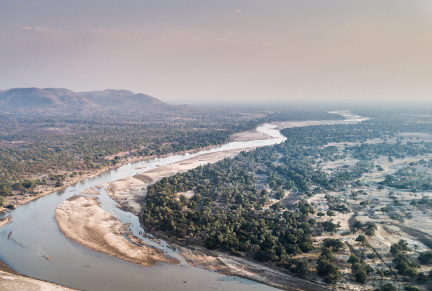 Zambia-South-Luangwa-Aerial-River