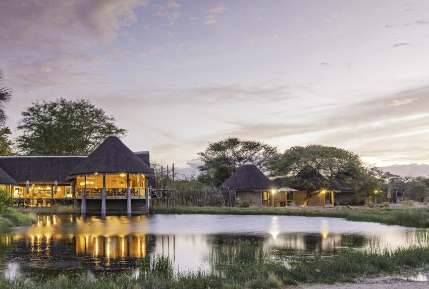 Namibia-Onguma-Bush-Camp-Exterior-Sunset