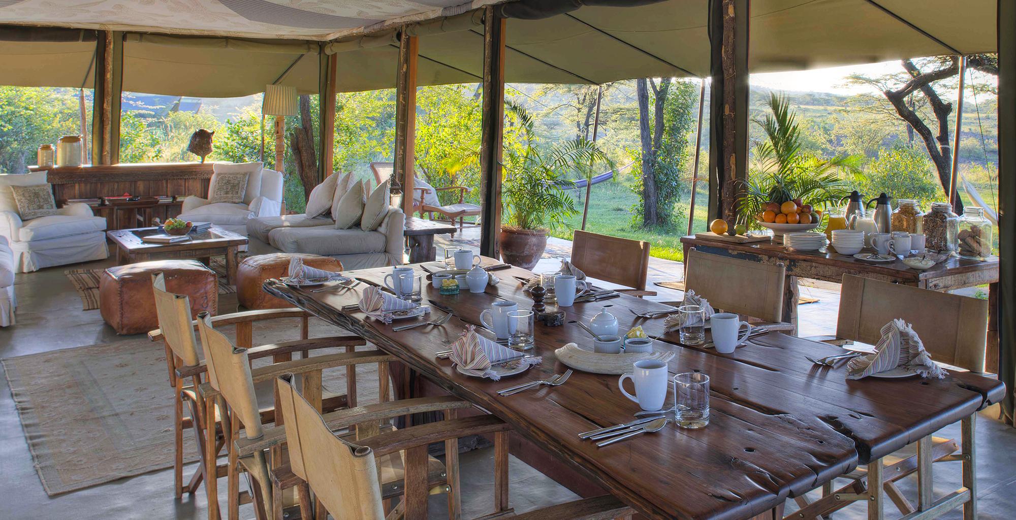 Kenya-Richard's-River-Camp-Dining