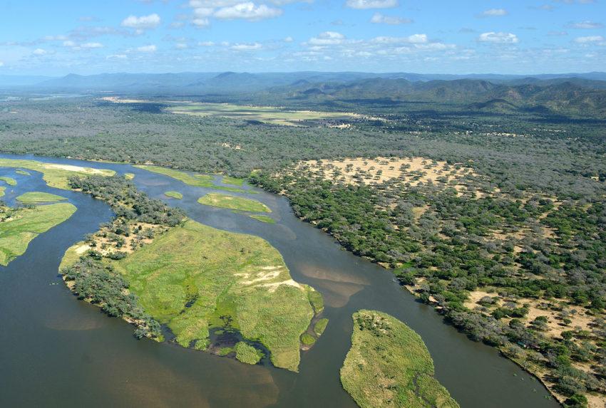 Old Mondoro Bush Camp Zambia Aerial