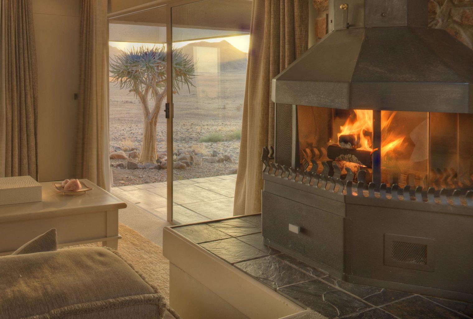 Sossusvlei Desert Lodge Namibia Fireplace