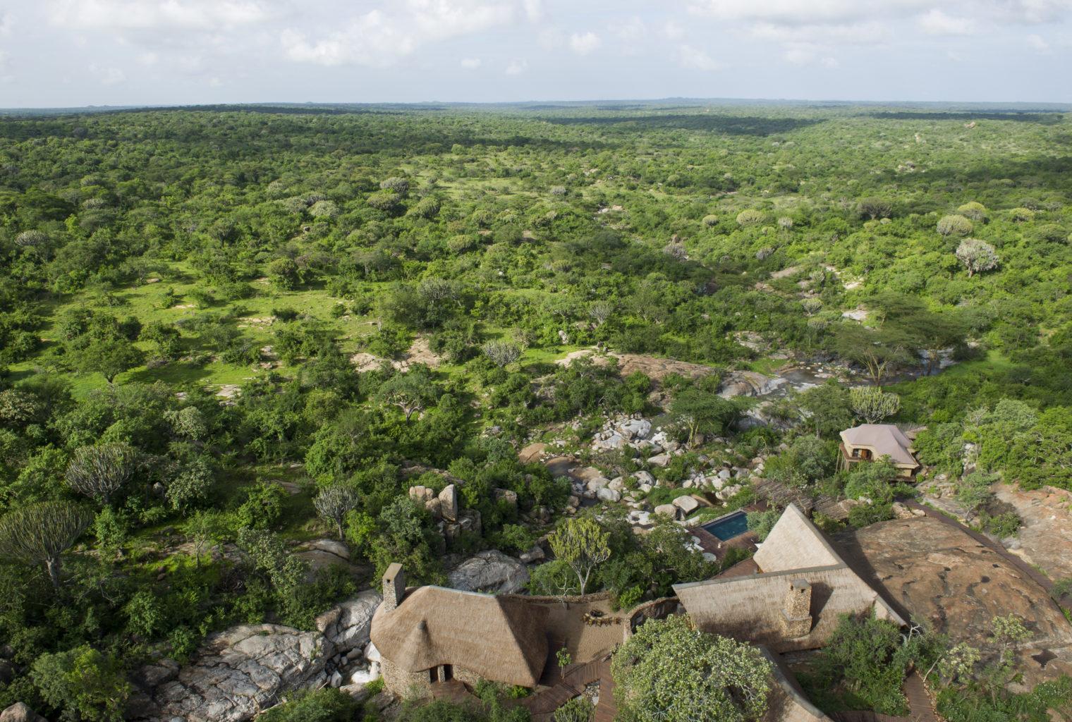 Mwiba Lodge Aerial Shit