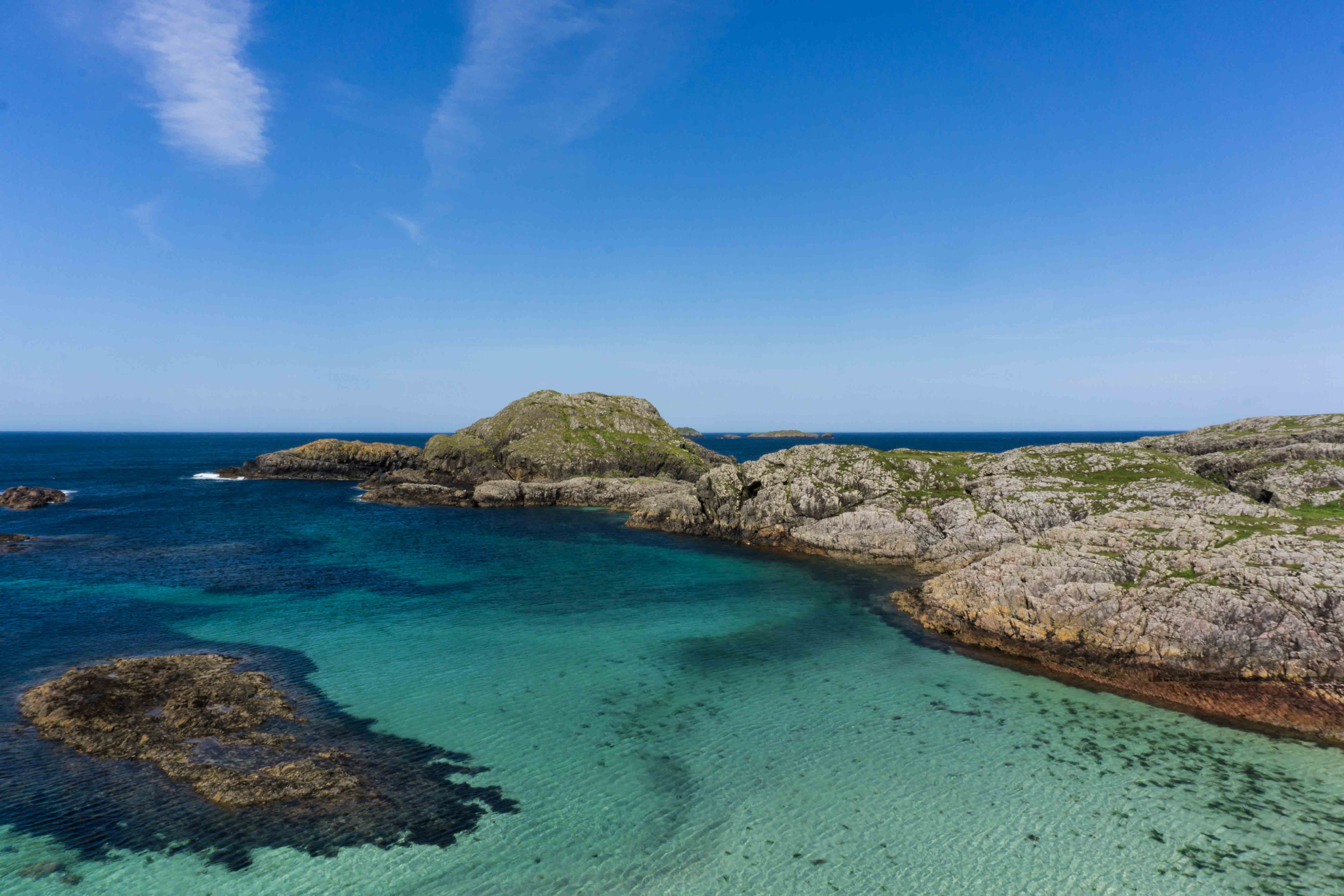 Clear waters of Iona