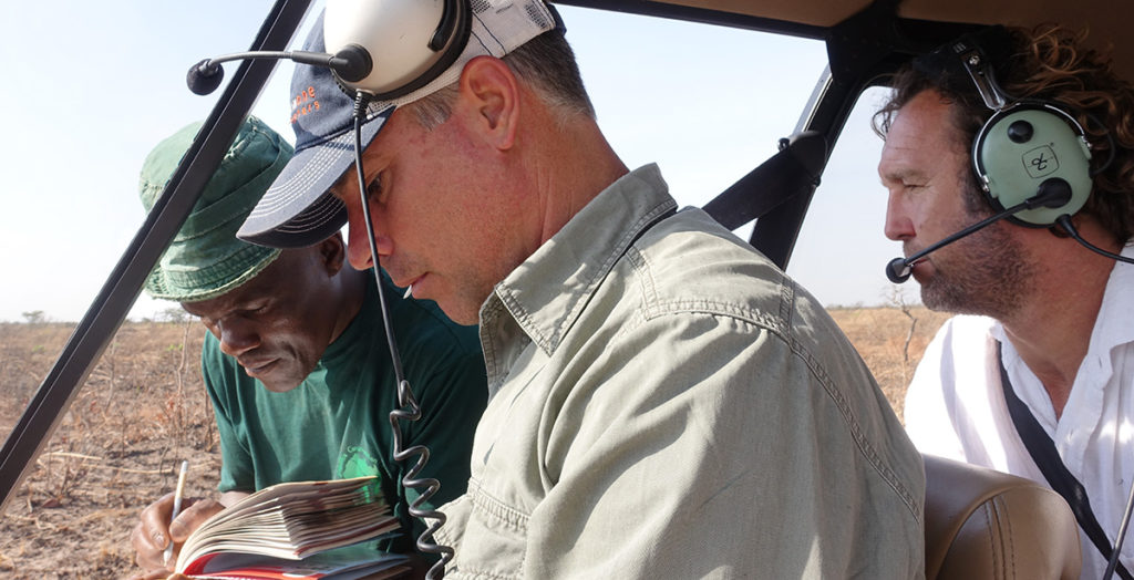 Will-in-helicopter-with Anti-Poaching Team at Moyowosi