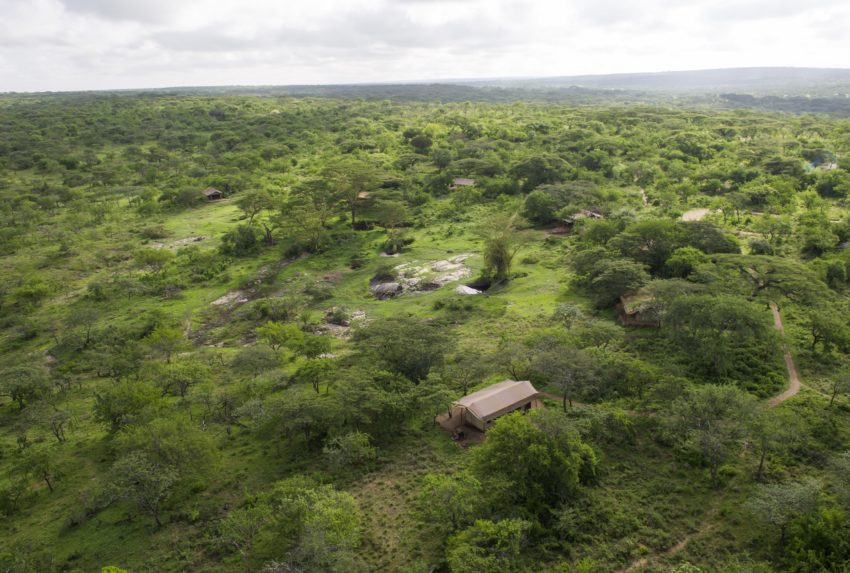 Mwiba Tented Camp Tanzania Aerial Shot