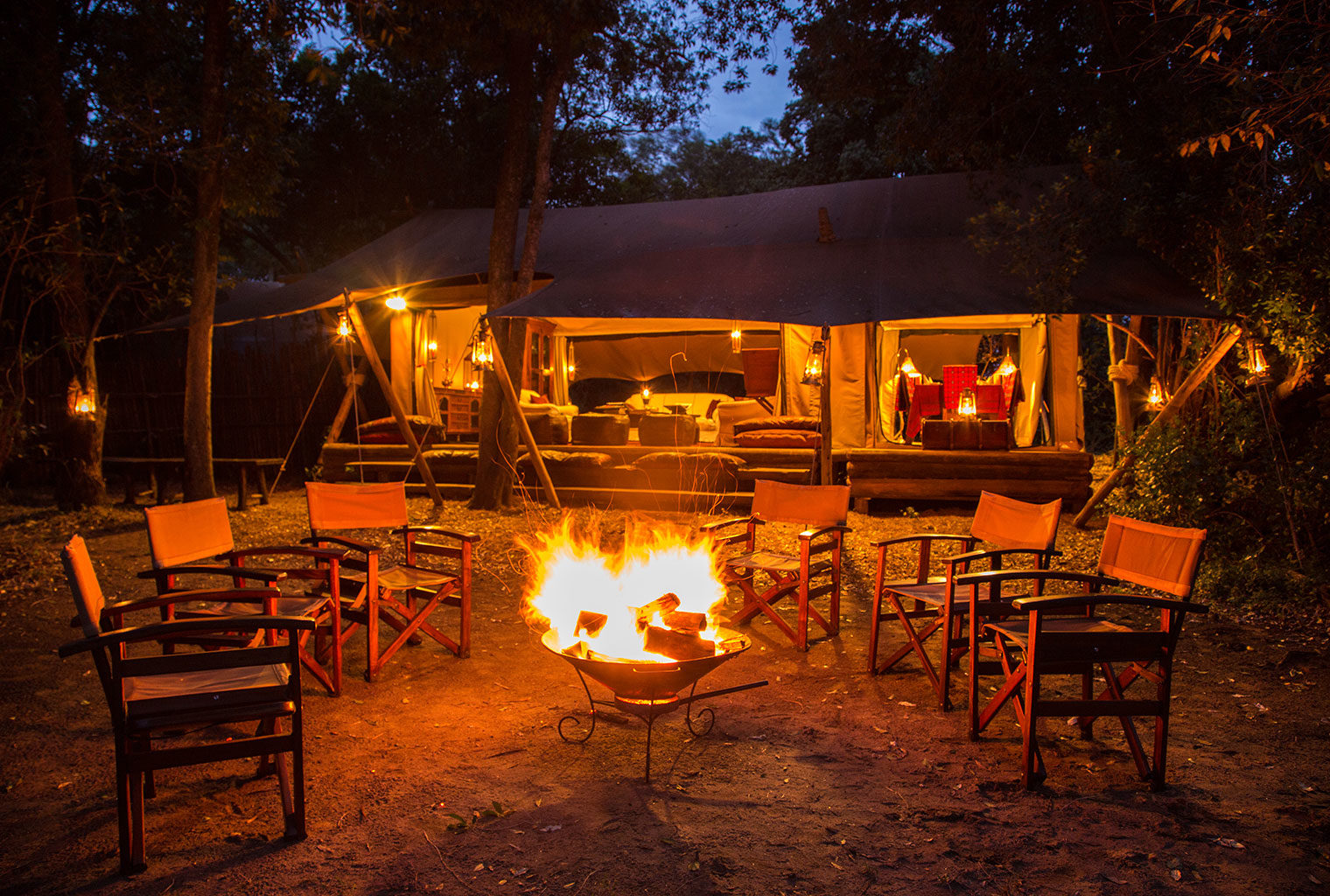 Mara Expedition Camp Fire Kenya