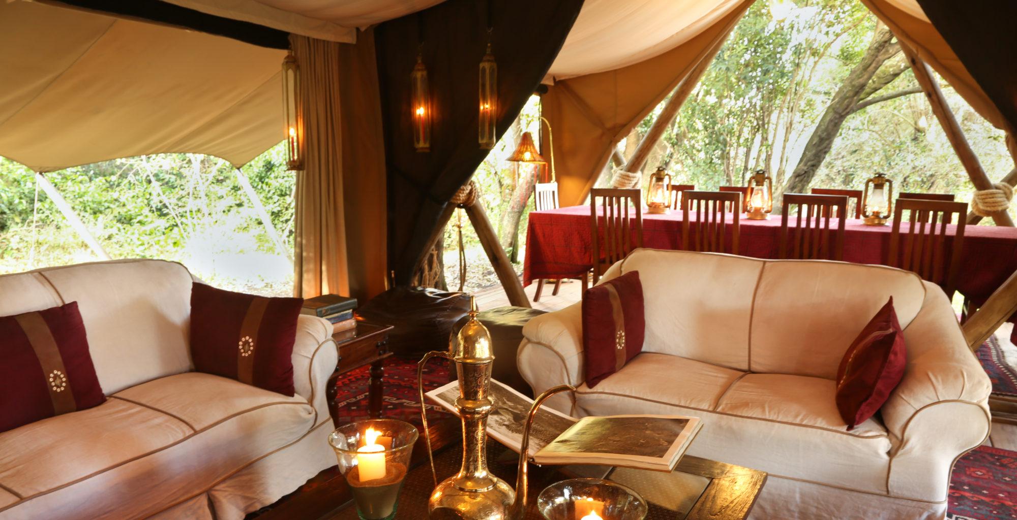 Mara Expedition Camp Livingroom Kenya