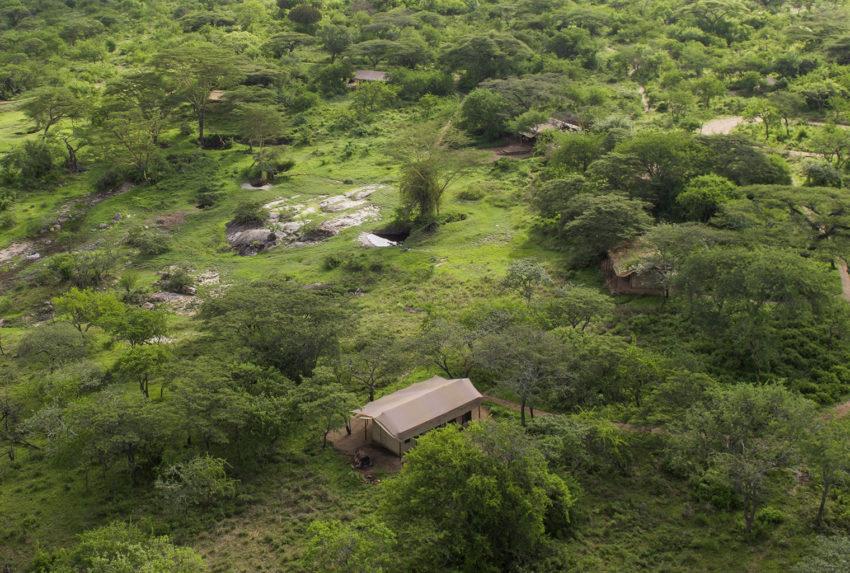 Tanzania-Mwiba-Tented-Camp-Aerial