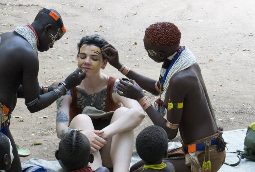 Frankie Omo Kids Face Paint Ethiopia