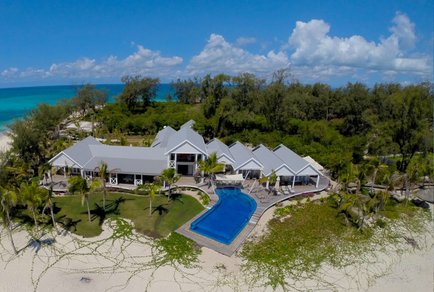 Thanda Island Tanzania Mainland Coast Aerial Shot
