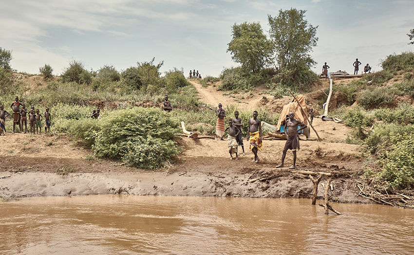 Banks of the Omo River by Andy Haslam