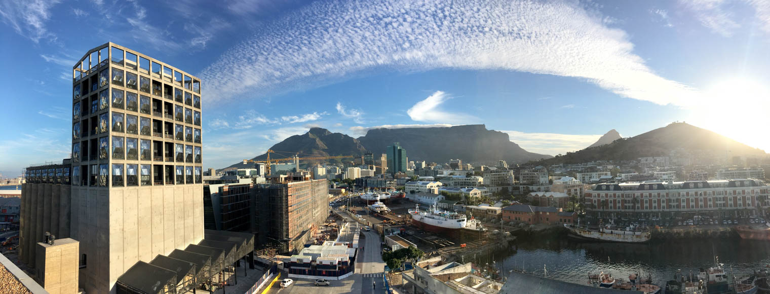 Panoramic View of The Silo Hotel and view of Cape Town