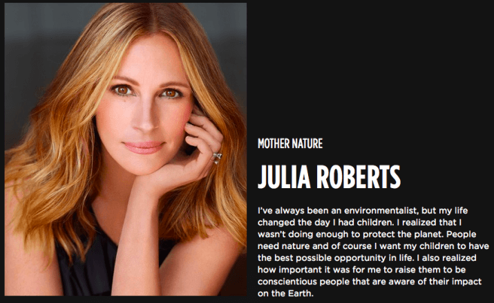 Julia Roberts Mother Nature