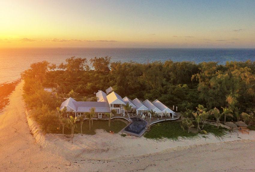 Tanzania-Thanda-Island-Sunset-Aerial