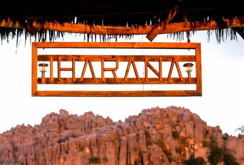 Madagascar North Iharana Bush Camp Sign