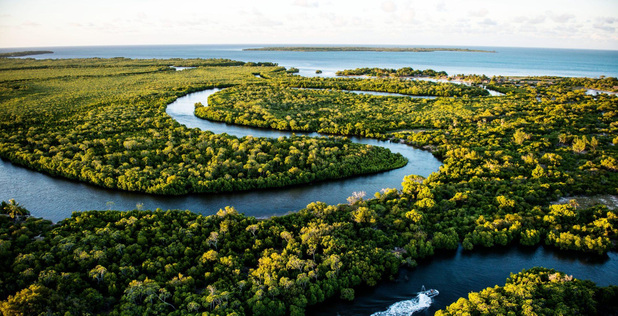 Madagascar-River-Aerial