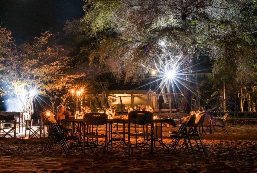 Zimbabwe-Changa-Safari-Camp-Exterior-Night