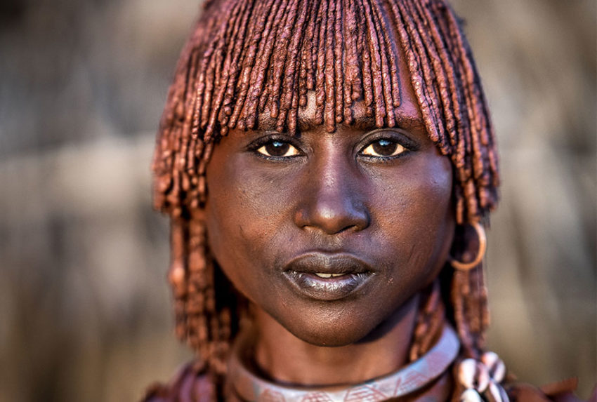 Hamar-Frau in the Omo Valley