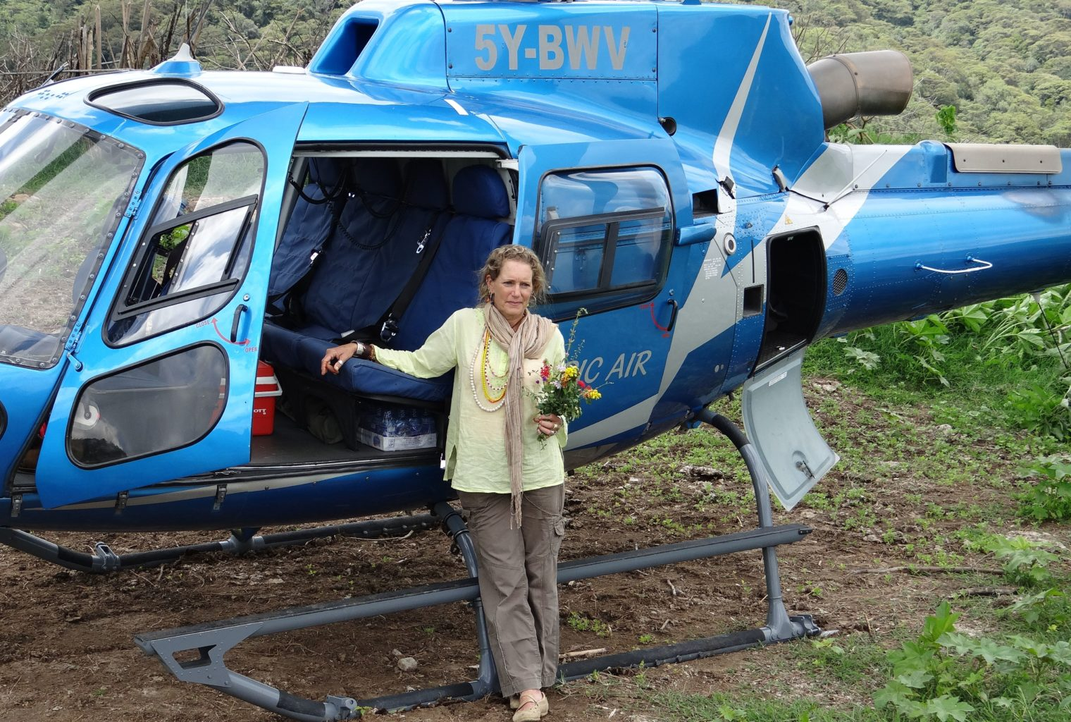 Helicopter Plant Safaris Anne Powys