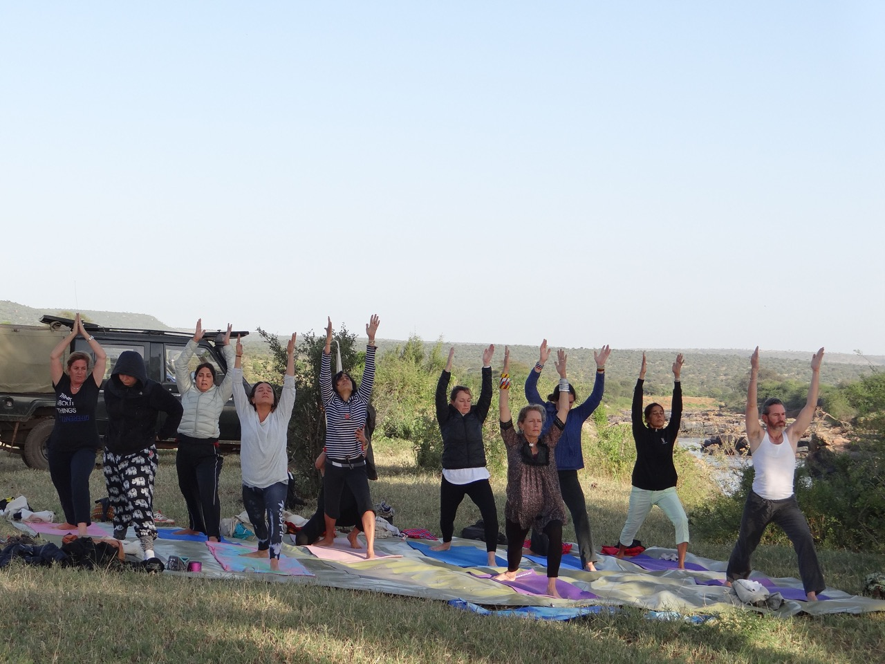 Yoga safaris with Anne Powys