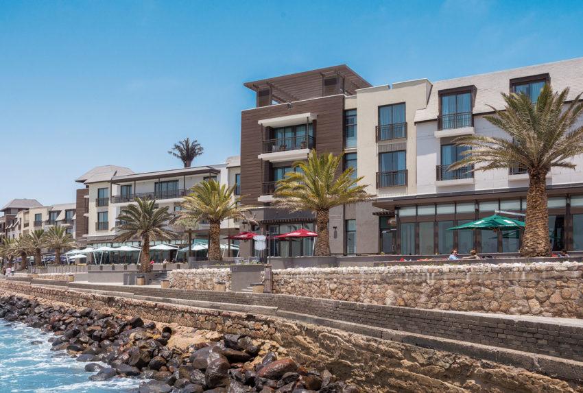 Namibia-Strand-Hotel-Swakopmund-From-Coast