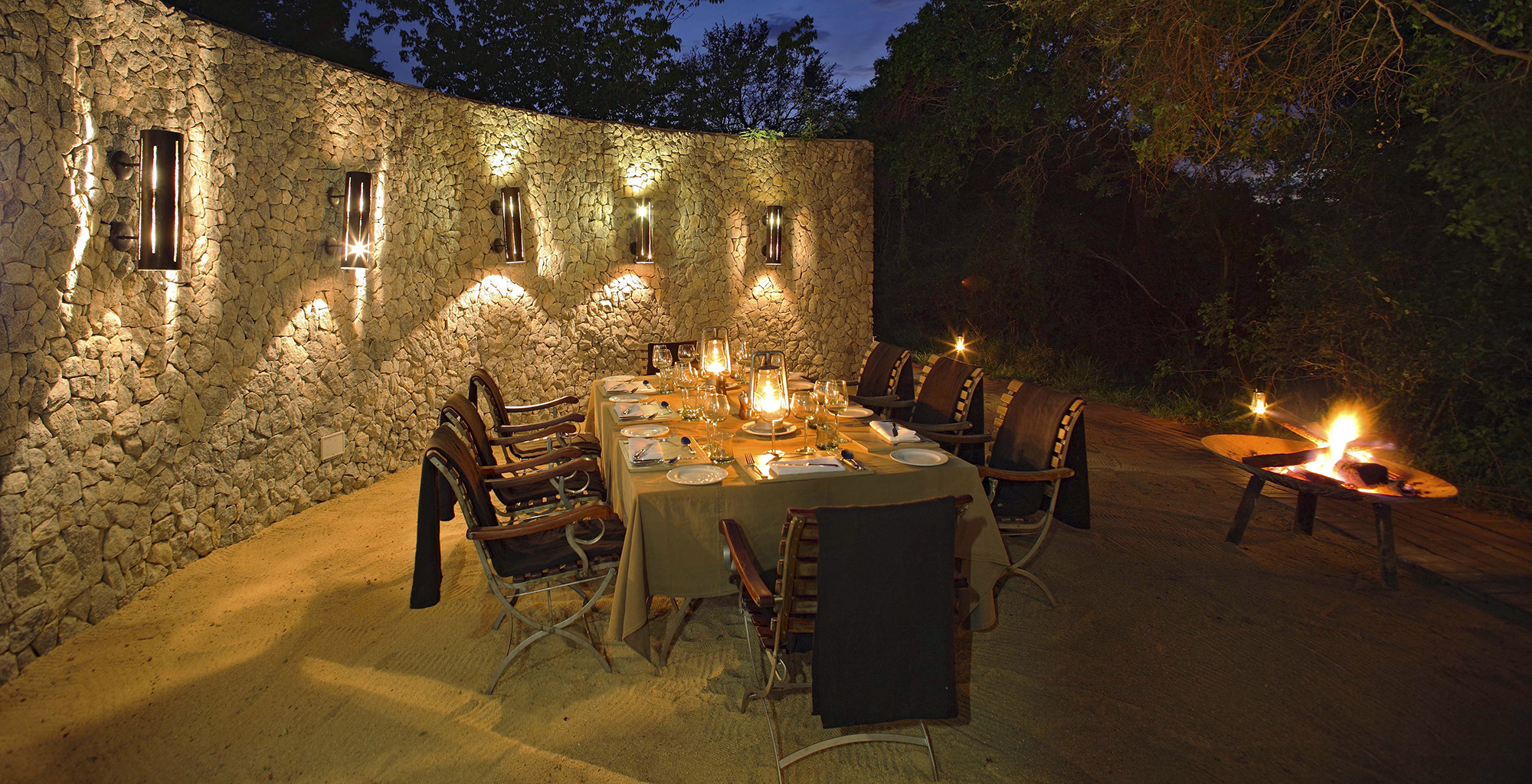 South-Africa-Dulini-Leadwood-Dining-Night