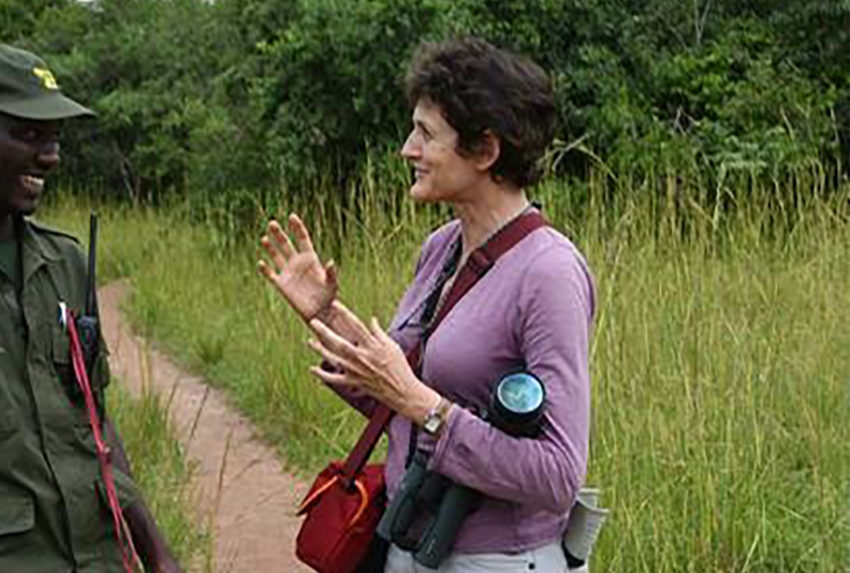 Isabella Tree Talking to Ranger in Kibale Forest