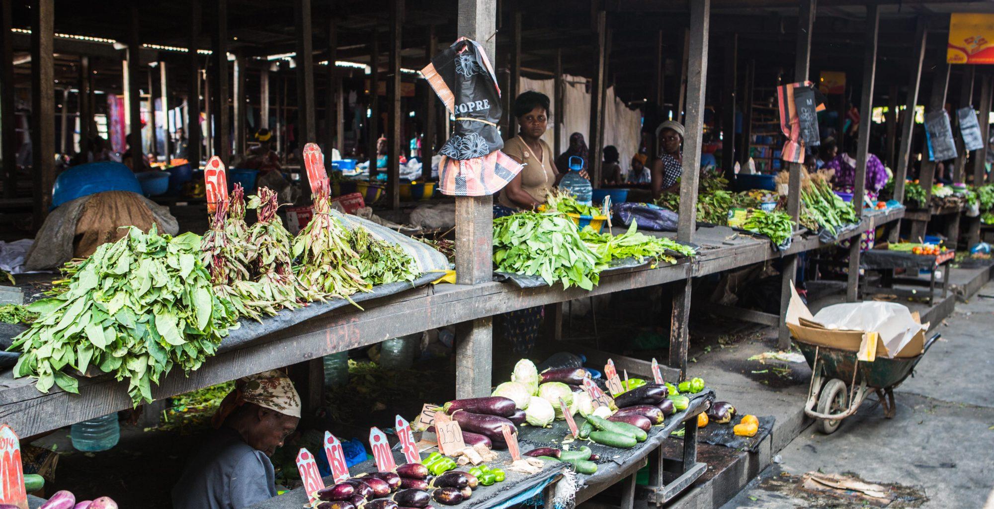Brazzaville Market Republic of Congo