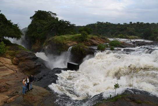 Isabel Burrell at Murchison Falls