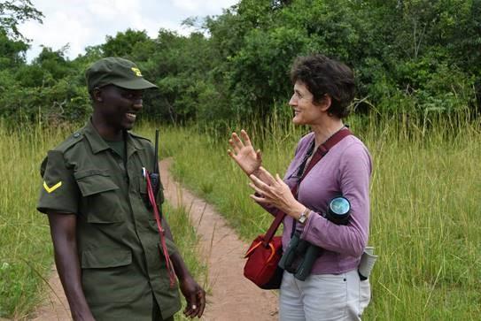 Isabel Burrell in Uganda