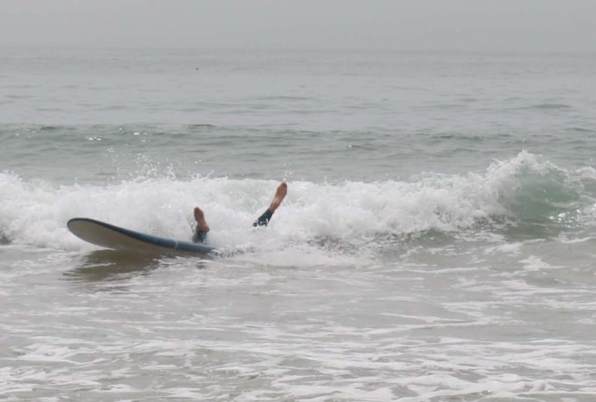 Sally Kirby Surfing