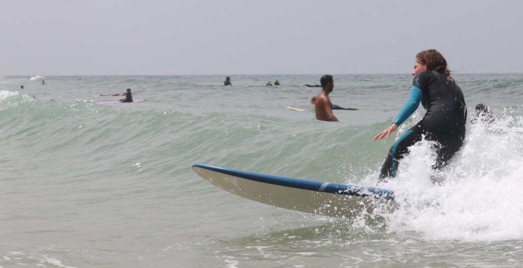 Sally Kirby Surfing Africa