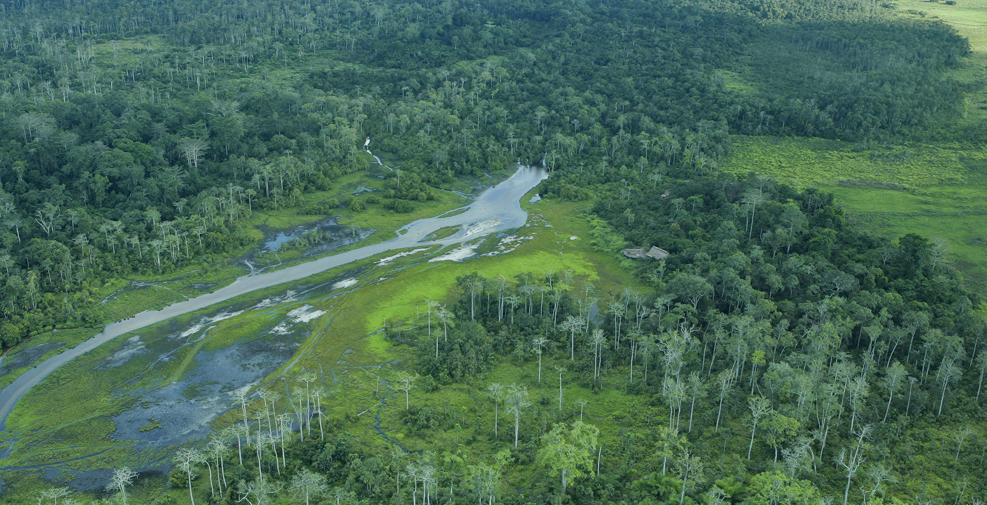 Republic-of-Congo-Odzala-Lango-Camp-Aerial