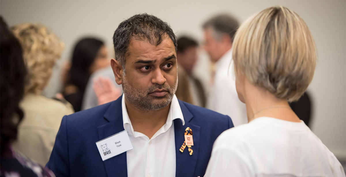 Hitesh Patel at a conference for Born Free