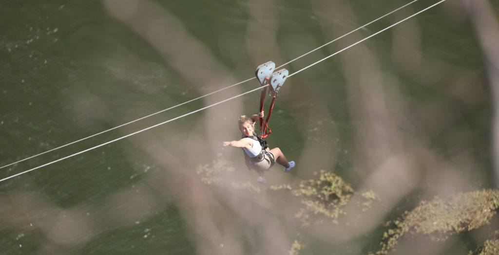 Jamie Cross Ziplining Zimbabwe