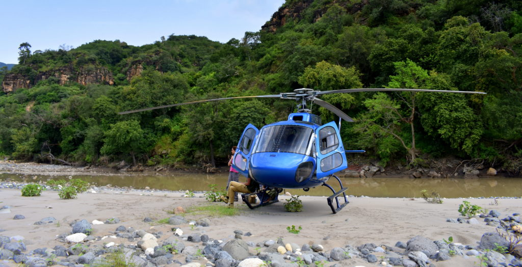 heli in blue nile gorge